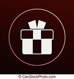 birthday present icon