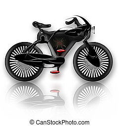 Bike insect styled - Insect styled bicycle illustration over...
