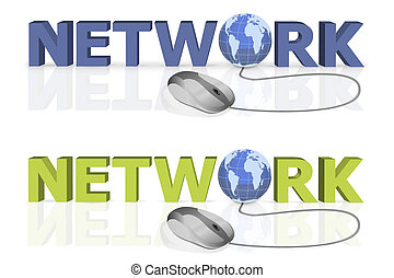 mouse click to network
