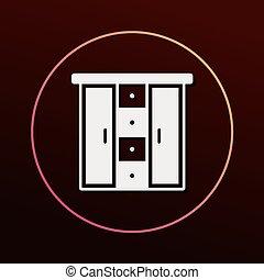 closet cabinet icon