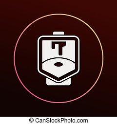 Toilet seat icon