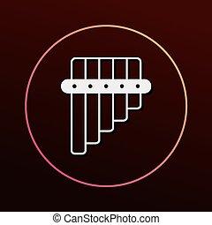 Flauta, ícone