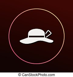 Sun hat icon