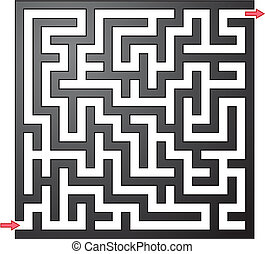 Vector illustration of gray maze