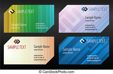 Collections of backgrounds for business cards