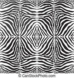 Vector seamless background skin zebra - Seamless vector...