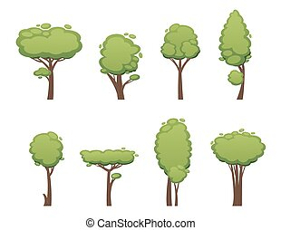 Nature vector cut tree collection elements - Nature vector...