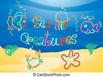 Little sea creatures under the sea .