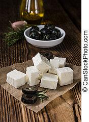 Pieces of fresh feta cheese - Pieces of fresh cutted feta...
