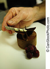 chocolate dessert - plated chocolate dessert