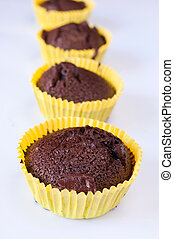 Cup cakes - Sweet cup cakes with chocolated and coffee
