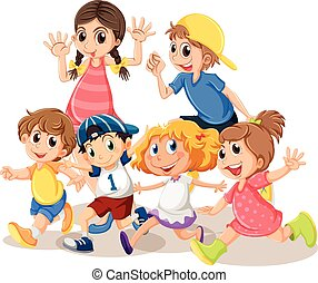 Children with happy face