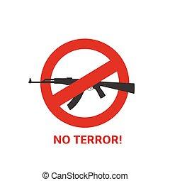 No terror sign