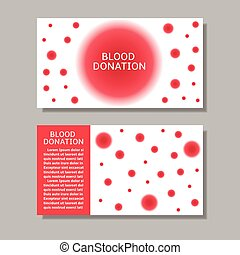 Blood donation banners - Blood donation banner set Abstract...