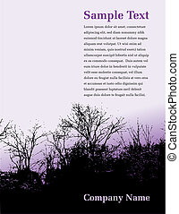 Tree, landscape page layout design with space for your text