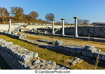 Ruins of octagon church in Philippi - Ruins of octagon...