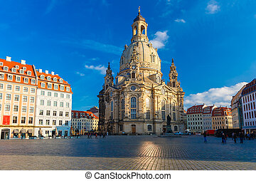 Frauenkirche in the morning, Dresden, Germany - Lutheran...