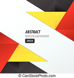 polygons design template yellow, black, red