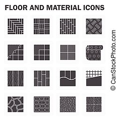 Floor icons sets - Floor and material icons sets