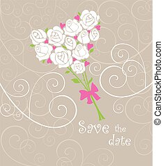 Greeting card with wedding bouquet