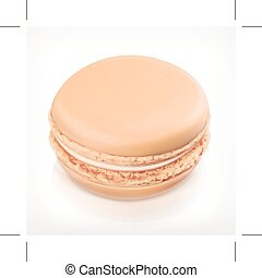 Macaron vector icon - Macaron, vector icon, isolated on...