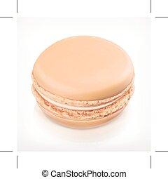Macaron vector icon - Macaron, vector icon, isolated on...