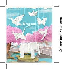 Origami paper set