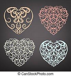 Heart pattern set