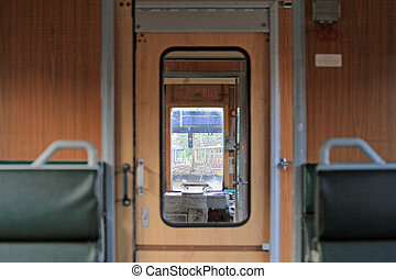 Interior of a train - View from the passenger compartment...