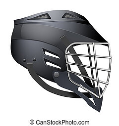 Lacrosse Helmet Side View - Black Lacrosse Helmet Side View....