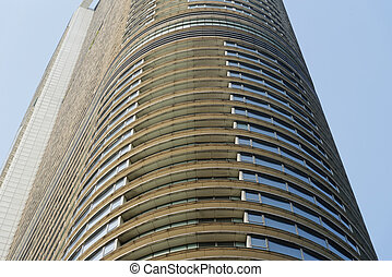 round-shaped skyscraper
