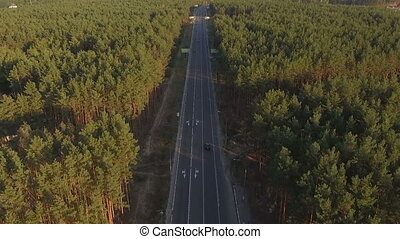 highway with moving cars