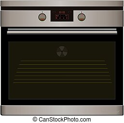 Electric oven Vector - Electric oven isolated on the white...