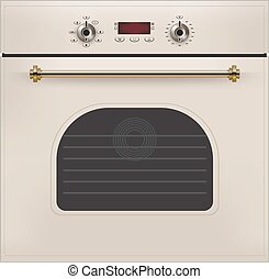 Electric oven. Vector - Electric oven isolated on the white...
