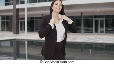 Confident friendly businesswoman with a smile