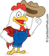 Chicken farmer - Clipart picture of a chicken farmer cartoon...