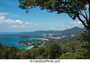 Kata and Karon beaches Phuket Thailand - Beautiful view Kata...