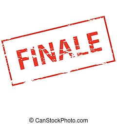 Finale - Rubber stamp with word finale inside, vector...