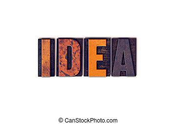 Idea Concept Isolated Letterpress Type