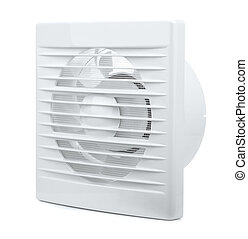 Extractor Fan - Wall electric extractor fan isolated on...