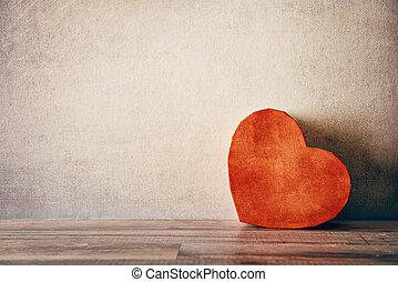 caixa, Coração, FORMA, PRESENTE