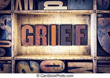 Grief Concept Letterpress Type