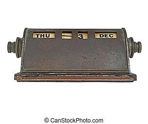 vintage perpetual calendar - vintage rusty brass perpetual...