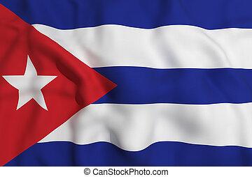 cuba flag - 3d rendering of a Cuba flag waving