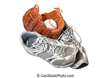 Old Shoes, Baseball, and Glove