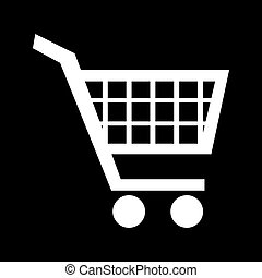 Shopping cart icons  for online purchases- vector