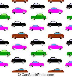 汽車, 圖象, 上, white.,