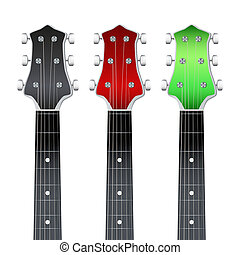 Set of Guitar neck fretboard and headstock - Set of Rock...