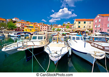 Colorful mediterranean village in Croatia, Sali on Dugi Otok...