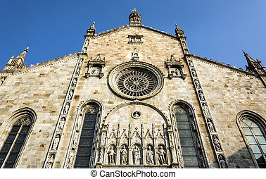 Como Cathedral Facade - Como Cathedral is the Roman Catholic...